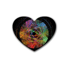 The Art Links Pi Rubber Coaster (heart)  by BangZart
