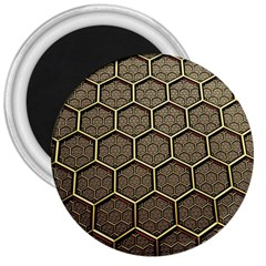 Texture Hexagon Pattern 3  Magnets by BangZart