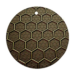 Texture Hexagon Pattern Ornament (round)
