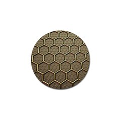 Texture Hexagon Pattern Golf Ball Marker (10 Pack) by BangZart