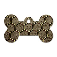 Texture Hexagon Pattern Dog Tag Bone (two Sides) by BangZart