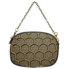 Texture Hexagon Pattern Chain Purses (one Side)