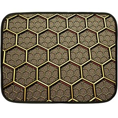 Texture Hexagon Pattern Double Sided Fleece Blanket (mini)  by BangZart