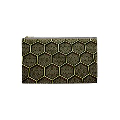 Texture Hexagon Pattern Cosmetic Bag (small)  by BangZart