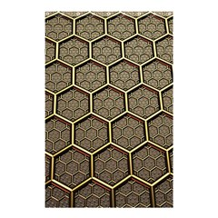 Texture Hexagon Pattern Shower Curtain 48  X 72  (small)