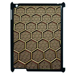 Texture Hexagon Pattern Apple Ipad 2 Case (black) by BangZart