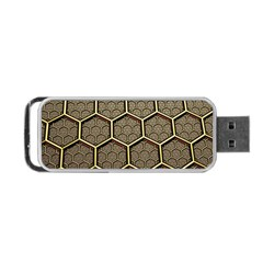 Texture Hexagon Pattern Portable Usb Flash (one Side) by BangZart