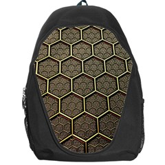 Texture Hexagon Pattern Backpack Bag by BangZart