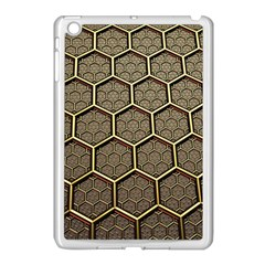 Texture Hexagon Pattern Apple Ipad Mini Case (white) by BangZart