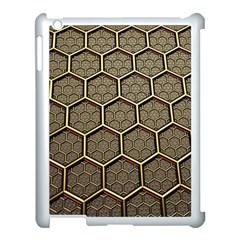 Texture Hexagon Pattern Apple Ipad 3/4 Case (white) by BangZart