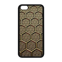 Texture Hexagon Pattern Apple Iphone 5c Seamless Case (black) by BangZart