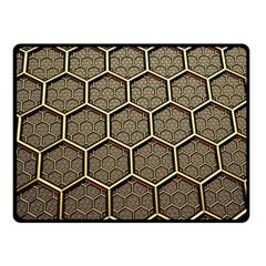 Texture Hexagon Pattern Double Sided Fleece Blanket (small)