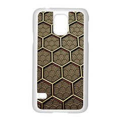 Texture Hexagon Pattern Samsung Galaxy S5 Case (white)