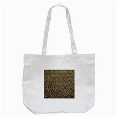 Texture Hexagon Pattern Tote Bag (white) by BangZart