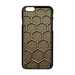 Texture Hexagon Pattern Apple Iphone 6/6s Black Enamel Case by BangZart
