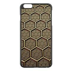 Texture Hexagon Pattern Apple Iphone 6 Plus/6s Plus Black Enamel Case by BangZart
