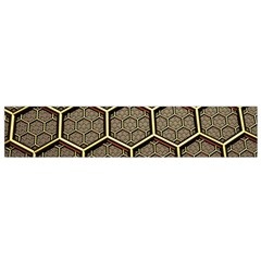 Texture Hexagon Pattern Flano Scarf (small)