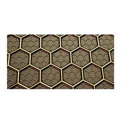 Texture Hexagon Pattern Satin Wrap by BangZart