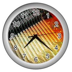 Technology Circuit Wall Clocks (silver)