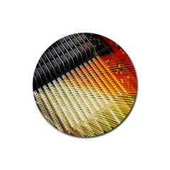 Technology Circuit Rubber Round Coaster (4 Pack)