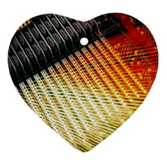 Technology Circuit Heart Ornament (two Sides)