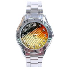 Technology Circuit Stainless Steel Analogue Watch by BangZart
