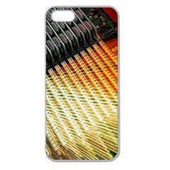 Technology Circuit Apple Seamless Iphone 5 Case (clear) by BangZart