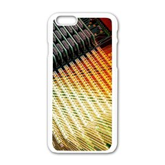 Technology Circuit Apple Iphone 6/6s White Enamel Case by BangZart