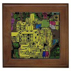 Technology Circuit Board Framed Tiles by BangZart
