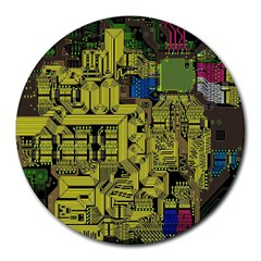 Technology Circuit Board Round Mousepads