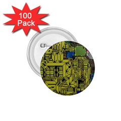Technology Circuit Board 1 75  Buttons (100 Pack)  by BangZart