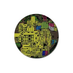 Technology Circuit Board Magnet 3  (round) by BangZart
