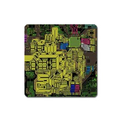 Technology Circuit Board Square Magnet