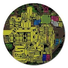 Technology Circuit Board Magnet 5  (round) by BangZart