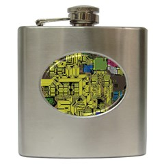 Technology Circuit Board Hip Flask (6 Oz) by BangZart