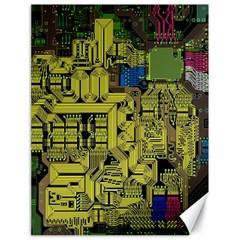 Technology Circuit Board Canvas 18  X 24   by BangZart