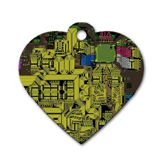 Technology Circuit Board Dog Tag Heart (one Side) by BangZart