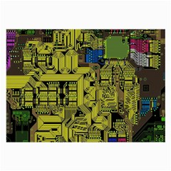 Technology Circuit Board Large Glasses Cloth