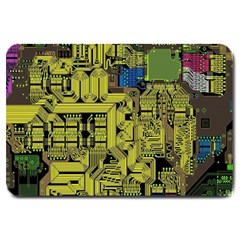 Technology Circuit Board Large Doormat  by BangZart