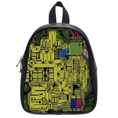 Technology Circuit Board School Bags (small)  by BangZart