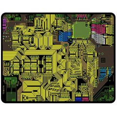 Technology Circuit Board Fleece Blanket (medium)  by BangZart