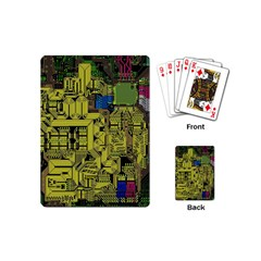 Technology Circuit Board Playing Cards (mini)  by BangZart