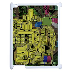 Technology Circuit Board Apple Ipad 2 Case (white) by BangZart