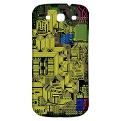 Technology Circuit Board Samsung Galaxy S3 S Iii Classic Hardshell Back Case by BangZart