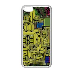 Technology Circuit Board Apple Iphone 5c Seamless Case (white) by BangZart