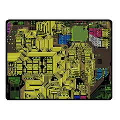 Technology Circuit Board Double Sided Fleece Blanket (small)  by BangZart
