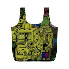 Technology Circuit Board Full Print Recycle Bags (m)