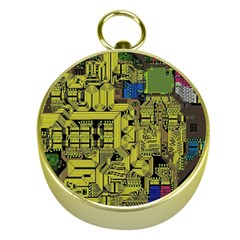 Technology Circuit Board Gold Compasses