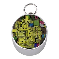 Technology Circuit Board Mini Silver Compasses by BangZart