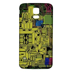 Technology Circuit Board Samsung Galaxy S5 Back Case (white) by BangZart